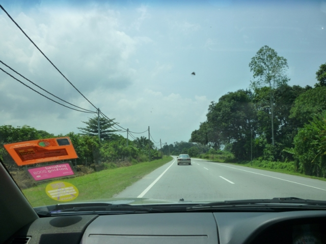 Passing by villages on our way to Lumut via Bidor