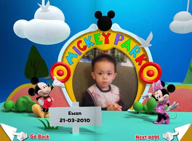 I submitted E's photo for the March's Disney Birthday Book in Disney Junior Asia.