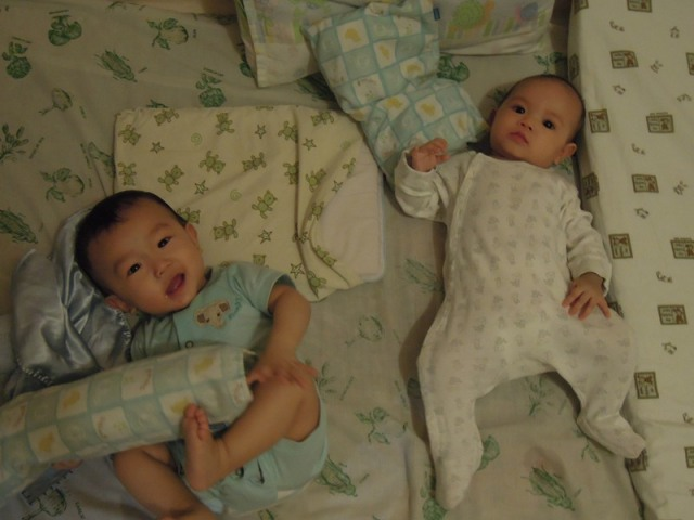 Xan and her cousin, Jun, who is older by 4 months