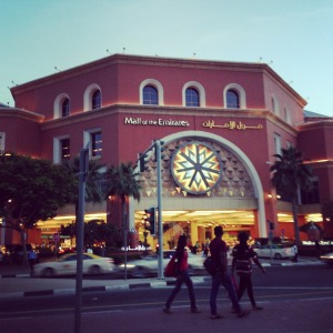 Mall of the Emirates is just 10 minutes away from our place
