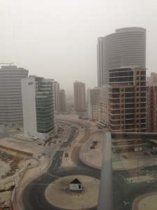 View from our apartment - Sandstorm on one Saturday