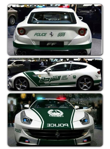 When I grow up, I want to be a policewoman in Dubai!