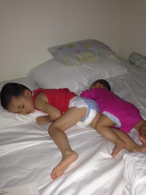 My babies sound asleep