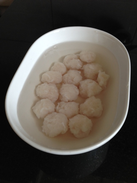 Project of the day - homemade fishballs!