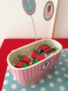 Strawberry hairclips for little girls and babies